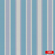 Ado - Solm - 1347-653  | Curtain Fabric - Blue, Stripe, Synthetic, Traditional, Domestic Use, Railroaded
