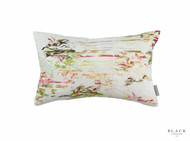 Black Edition - Pleasure Gardens Cushion - Bloom  | Cusion Fabric - Floral, Garden, Pink, Purple, Chinoise, Domestic Use, Dry Clean, Print, Watercolour