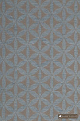 James Dunlop Tapa - Mineral  | Upholstery Fabric - Blue, Fire Retardant, Diaper, Geometric, Midcentury, Natural fibre, Washable, Commercial Use, Dry Clean, Natural