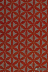 jd_19985-107 'Tangelo'   Upholstery Fabric - Red, Diaper, Geometric, Midcentury, Natural fibre, Red, Commercial Use, Natural