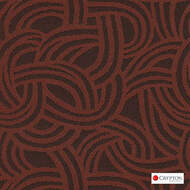Crypton Route Carrot  | Upholstery Fabric - Brown, Midcentury, Pattern, Synthetic fibre, Commercial Use