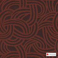 Crypton Route Carrot  | Upholstery Fabric - Brown, Midcentury, Pattern, Synthetic, Commercial Use, Standard Width
