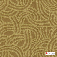 CRYP257 'Gold' | Upholstery Fabric - Gold - Yellow, Midcentury, Pattern, Synthetic fibre, Commercial Use