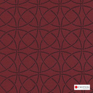 Crypton Trivia Brick  | Upholstery Fabric - Burgundy, Asian, Circlelink, Synthetic, Chinoise, Commercial Use