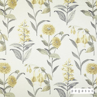 peg_30192-101 'Silk' | Curtain & Upholstery fabric - Gold - Yellow, Farmhouse, Floral, Garden, Natural fibre, Tan - Taupe, Domestic Use, Natural, Top of Bed