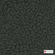 CRYP369 'Graphite' | Upholstery Fabric - Black, Craftsman, Floral, Garden, Pattern, Synthetic fibre, Black - Charcoal, Commercial Use