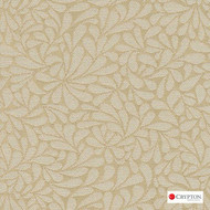 CRYP371 'Oyster' | Upholstery Fabric - White, Craftsman, Floral, Garden, Linen and Linen Look, Pattern, Synthetic fibre, Tan - Taupe, White, Commercial Use