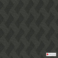 CRYP392 'Carbon' | Upholstery Fabric - Black, Basketweave, Midcentury, Synthetic fibre, Black - Charcoal, Commercial Use