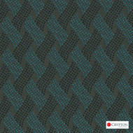 Crypton Cruise Sterling  | Upholstery Fabric - Blue, Basketweave, Midcentury, Synthetic, Commercial Use