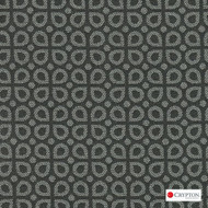 CRYP407 'Gravel' | Upholstery Fabric - Grey, Diaper, Foulard, Geometric, Midcentury, Small Scale, Synthetic fibre, Commercial Use