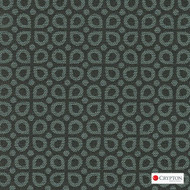 CRYP409 'Mineral' | Upholstery Fabric - Green, Diaper, Foulard, Geometric, Midcentury, Small Scale, Synthetic fibre, Commercial Use