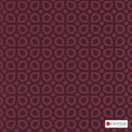 CRYP411 'Pink' | Upholstery Fabric - Burgundy, Diaper, Foulard, Midcentury, Small Scale, Synthetic fibre, Commercial Use