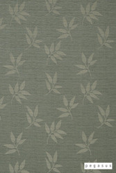 Pegasus Leaf Fall - Glade  | Curtain Fabric - Green, Deco, Decorative, Floral, Garden, Natural fibre, Transitional, Washable, Domestic Use, Dry Clean, Natural, Top of Bed