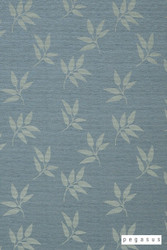 Pegasus Leaf Fall - Spray    Curtain Fabric - Blue, Deco, Decorative, Floral, Garden, Midcentury, Natural Fibre, Transitional, Washable, Domestic Use, Dry Clean, Natural