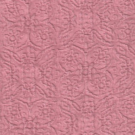 Willbro Italy Lalique Rose  | Upholstery Fabric - Damask, Natural fibre, Pink, Purple, Traditional, Domestic Use, Matelasse, Natural, Quilted
