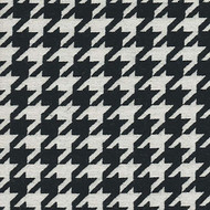 Willbro Italy Romeo Ebony  | Upholstery Fabric - Black - Charcoal, Fiber blend, Traditional, Domestic Use, Houndstooth