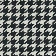 Willbro Italy Romeo Ebony  | Upholstery Fabric - Black - Charcoal, Fibre Blends, Traditional, Domestic Use, Houndstooth, Standard Width