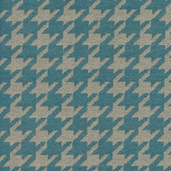 Willbro Italy Romeo Teal  | Upholstery Fabric - Blue, Fibre Blends, Traditional, Domestic Use, Houndstooth, Standard Width