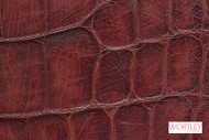 Wortley Group Designer Leather Classic Croc Rosso  | Upholstery Fabric - Leather, Red, Domestic Use