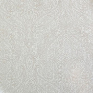 Willbro Italy Demasco Bianco  | Upholstery Fabric - Beige, White, Paisley, Synthetic, Traditional, Domestic Use, White, Standard Width