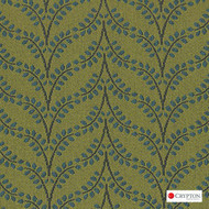 CRYP415 'Aloe' | Upholstery Fabric - Green, Midcentury, Pattern, Synthetic fibre, Commercial Use