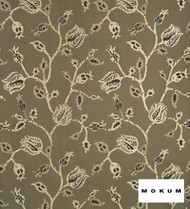 Mokum Tulip Tetouan - Lacquer  | Curtain & Upholstery fabric - Brown, Craftsman, Deco, Decorative, Floral, Garden, Jacobean, Natural Fibre, Traditional, Domestic Use