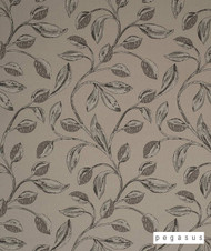 Pegasus Iriska - Stone  | Curtain Fabric - Craftsman, Deco, Decorative, Fibre Blends, Floral, Garden, Midcentury, Tan, Taupe, Washable, Domestic Use, Dry Clean, Top of Bed