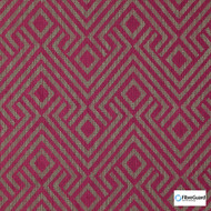 FibreGuard - Lucie Magenta  | Upholstery Fabric - Burgundy, Fire Retardant, Red, Geometric, Midcentury, Synthetic, Chenille, Commercial Use, Domestic Use, Standard Width