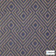 FibreGuard - Lucie Cobalt  | Upholstery Fabric - Blue, Fire Retardant, Geometric, Midcentury, Synthetic, Chenille, Commercial Use, Domestic Use, Standard Width