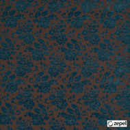 Zepel Fabrics - Rotundas Praline  | Upholstery Fabric - Blue, Brown, Floral, Garden, Synthetic, Commercial Use, Oeko-Tex, Oeko-Tex, Standard Width