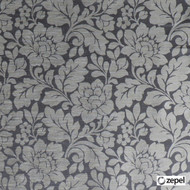 Zepel Fabrics - Valmont Sepia  | Curtain & Upholstery fabric - Black - Charcoal, Floral, Garden, Synthetic, Commercial Use, Domestic Use, Oeko-Tex, Oeko-Tex, Standard Width