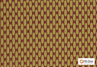 FR-One Fabrics - Zaza FR Jewel  | Curtain & Upholstery fabric - Fire Retardant, Gold,  Yellow, Diaper, Geometric, Midcentury, Synthetic, Commercial Use, Oeko-Tex, Oeko-Tex