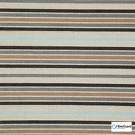 FibreGuard - Biscayne Earth  | Upholstery Fabric - Blue, Brown, Grey, Black - Charcoal, Stripe, Synthetic, Commercial Use, Railroaded, Standard Width