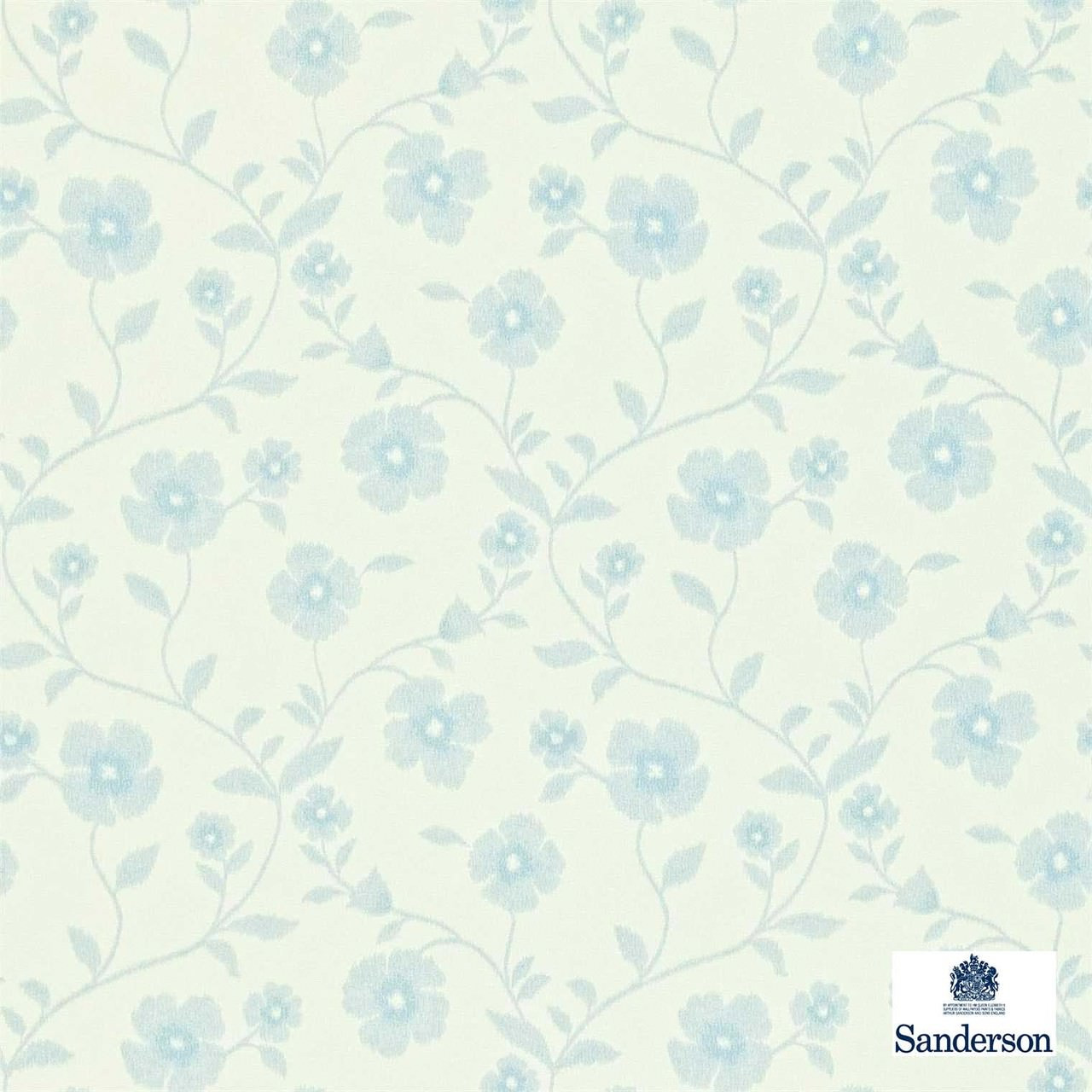 Sanderson Sabine 212003  | Wallpaper, Wallcovering - Blue, Farmhouse, Floral, Garden, Domestic Use