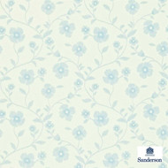 Sanderson Sabine 212003  | Wallpaper, Wallcovering - Blue, Fire Retardant, Farmhouse, Floral, Garden, Domestic Use