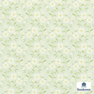 Sanderson Sabine 221933  | Curtain Fabric - Fire Retardant, Green, Farmhouse, Floral, Garden, Natural fibre, Domestic Use, FR Treatable, Natural, Suitable for Blinds