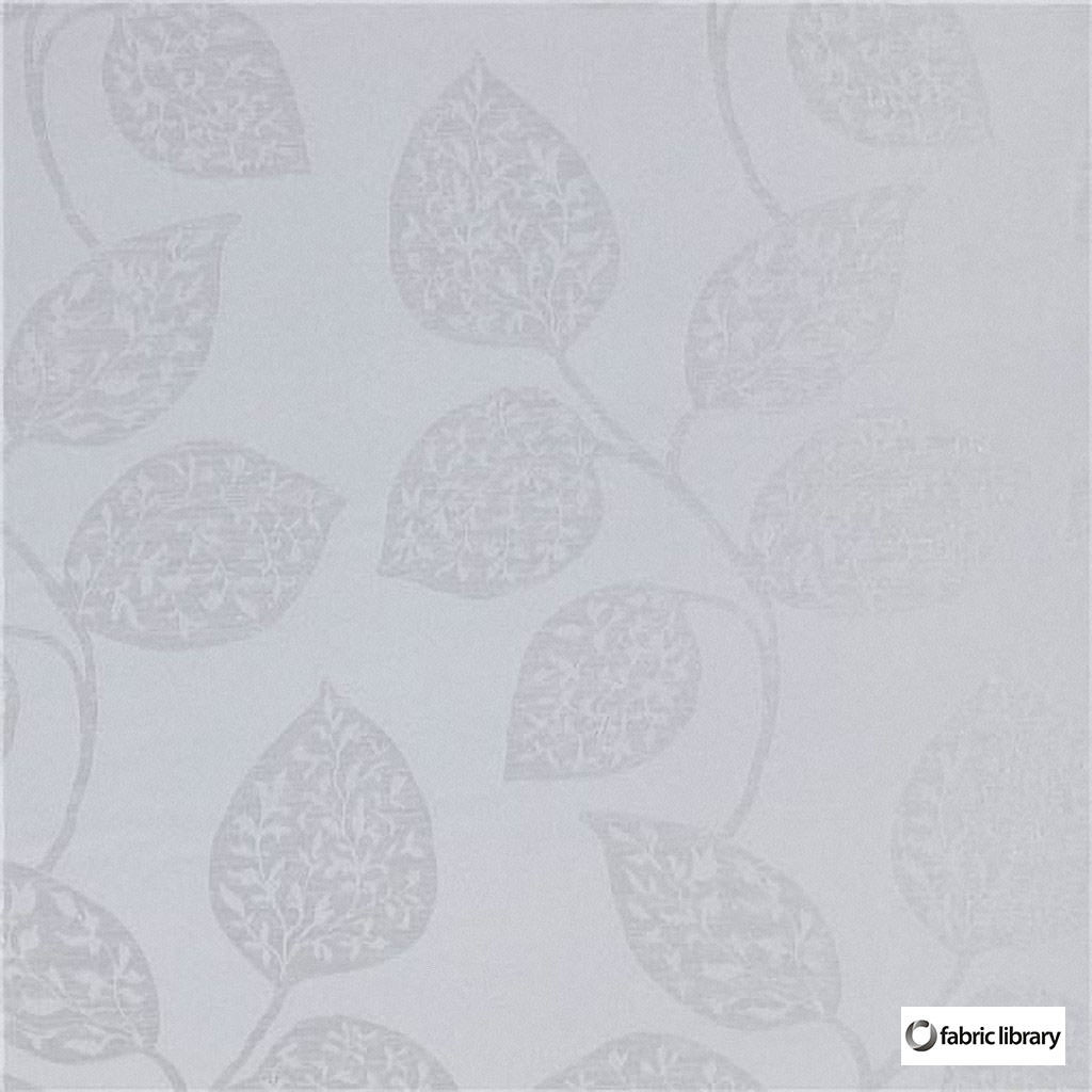 Fabric Library - Formentera Mist  | Curtain & Upholstery fabric - Grey, White, Floral, Garden, Synthetic, Commercial Use, Domestic Use, Oeko-Tex, White, Oeko-Tex