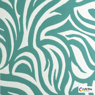 UV Pro Fabrics - Into Lagoon  | Curtain & Upholstery fabric - White, Floral, Garden, Outdoor Use, Synthetic, Commercial Use, Oeko-Tex, White, Oeko-Tex, Standard Width