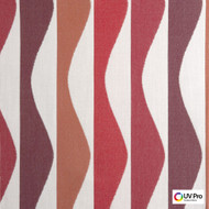 UV Pro Fabrics - Ray Grenadine  | Curtain & Upholstery fabric - Geometric, Midcentury, Outdoor Use, Synthetic, Commercial Use, Oeko-Tex, Oeko-Tex, Standard Width