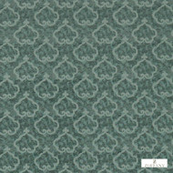 331953 '' | Curtain & Upholstery fabric - Fire Retardant, Green, Damask, Eclectic, Fiber blend, Traditional, Domestic Use, Suitable for Blinds