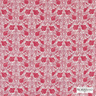 224477 '' | Curtain & Upholstery fabric - Fire Retardant, Red, Craftsman, Damask, Fiber blend, Floral, Garden, Red, Traditional, Domestic Use, Suitable for Blinds