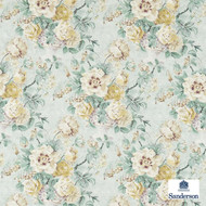 223984 '' | Curtain & Upholstery fabric - Blue, Fire Retardant, Farmhouse, Fiber blend, Floral, Garden, Toile de Jouy, Toile, Traditional, Many-Coloured, Domestic Use