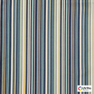 UV Pro Fabrics - Gulf Captain  | Curtain & Upholstery fabric - Blue, Outdoor Use, Stripe, Synthetic, Commercial Use, Oeko-Tex, Oeko-Tex, Standard Width