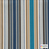 UV Pro Fabrics - Strata River  | Curtain & Upholstery fabric - Blue, Outdoor Use, Stripe, Synthetic, Traditional, Commercial Use, Oeko-Tex, Oeko-Tex, Standard Width