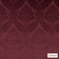 FR-One Fabrics - Gosh FR Bordeaux  | Curtain & Upholstery fabric - Burgundy, Fire Retardant, Damask, Synthetic, Commercial Use, Domestic Use, Oeko-Tex, Oeko-Tex