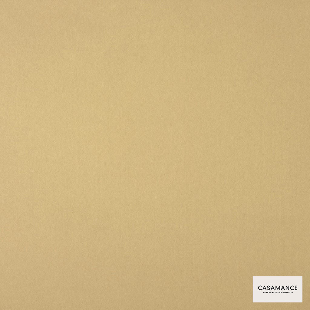 Casamance - Gala 3358 17 52  | Curtain & Upholstery fabric - Gold,  Yellow, Plain, Synthetic, Commercial Use, Wide Width
