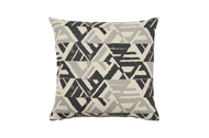 Weave - Kimya Cushion - Tar  | - Grey, Weave, Abstract