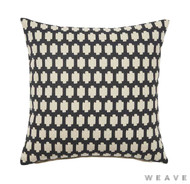 Weave - Madi Cushion - Tar (Pack of 2)  | Cusion Fabric - Black - Charcoal, Quatrefoil, Weave, Crosses