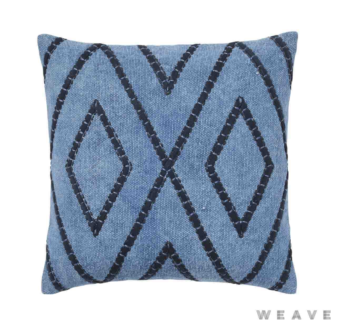 Weave - Shiso Cushion - Pigment (Pack of 2)  | Cusion Fabric - Blue, Weave, Diamond - Harlequin
