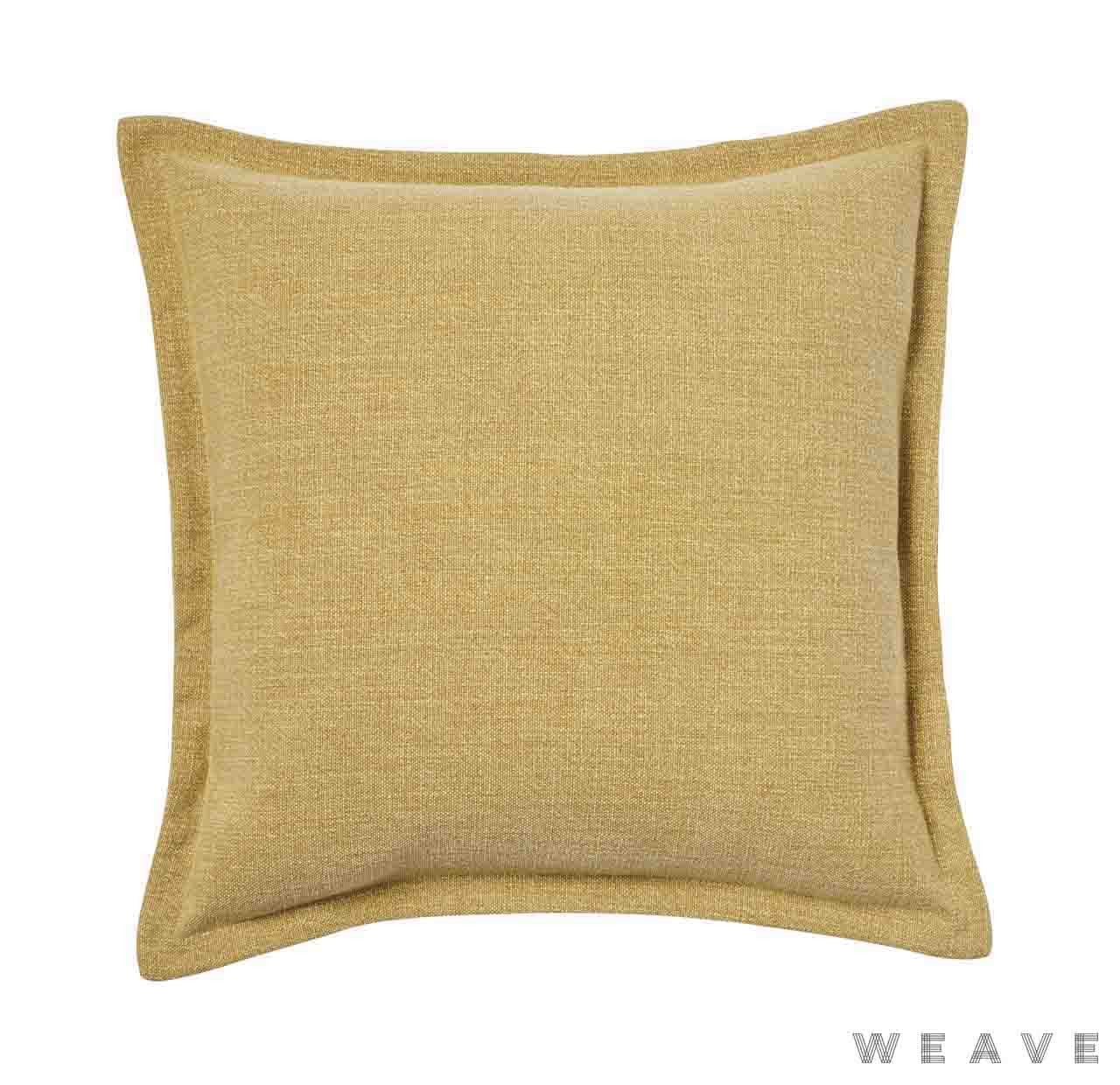 Weave - Austin Cushion - Mustard (Pack of 2)  | Cusion Fabric - Gold,  Yellow, Plain, Weave